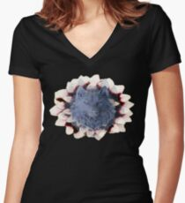 Flowers or blood  Women's Fitted V-Neck T-Shirt
