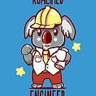 Koalified Engineer - Koala Animal Pun Shirt by TechraNova