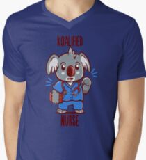 Koalified Nurse - Koala Animal Pun Shirt V-Neck T-Shirt