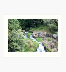 Morans Falls Lamington National Park Art Print