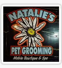 HUNNY THE BAND - NATALIE'S PET GROOMING Sticker Sticker