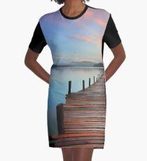 beach boardwalk Graphic T-Shirt Dress