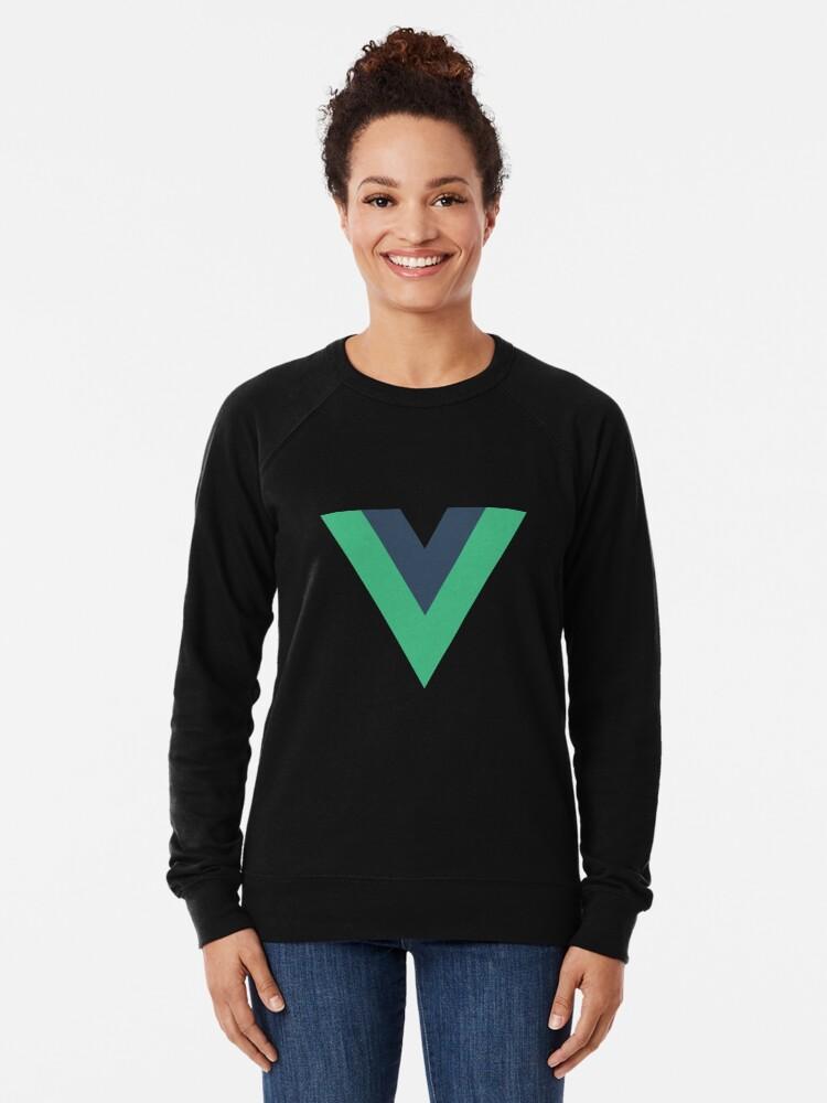Alternative Ansicht von Vue.js Framework Offizielles Logo T-Shirt Leichter Pullover