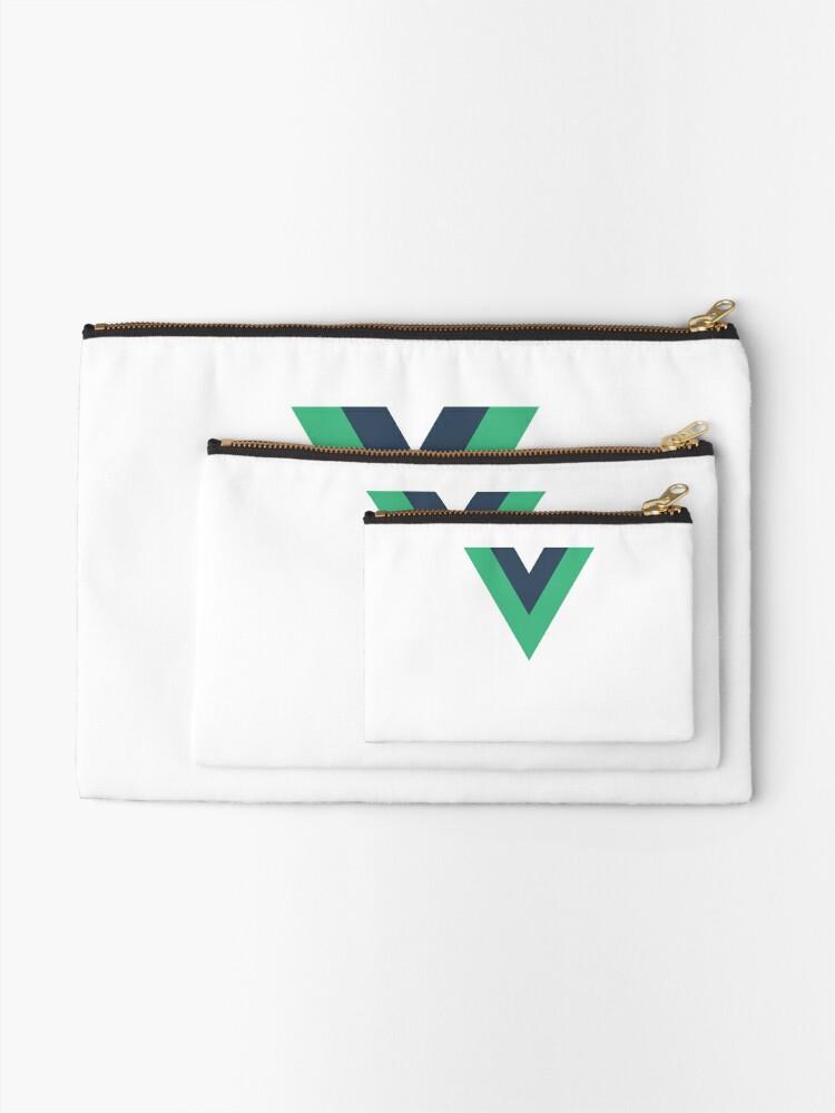 Alternative Ansicht von Vue.js Framework Offizielles Logo T-Shirt Täschchen