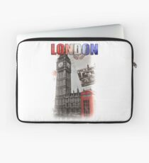 London Skyline Postcard Laptop Sleeve