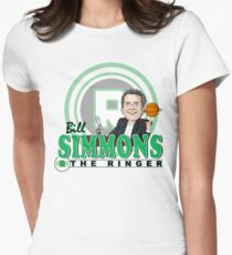 Bill Simmons Caricature Tee Fitted T-Shirt