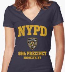 99th Precinct - Brooklyn NY Women's Fitted V-Neck T-Shirt