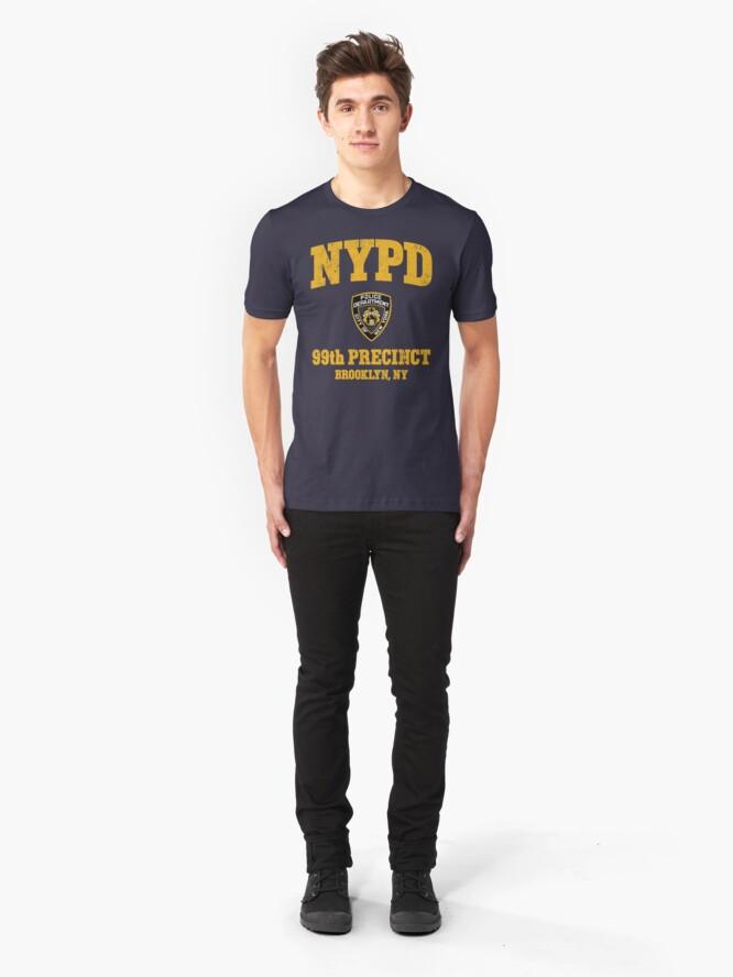 Alternate view of 99th Precinct - Brooklyn NY Slim Fit T-Shirt