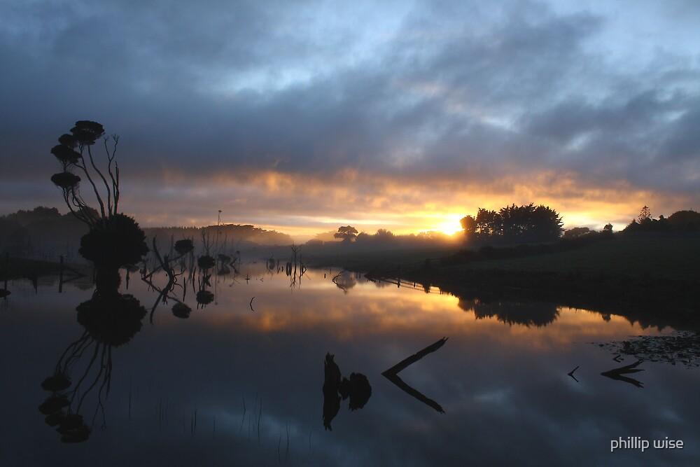 Farm dam at Forest , nor west Tasmania , Australia by phillip wise
