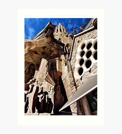 steeple. barcelona, spain Art Print