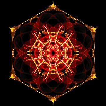 Energetic Geometry - Hexagon Mandala  by LeahMcNeir