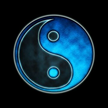 Blue Yin Yang Symbol - iPhone & iPod  Cases  by LeahMcNeir
