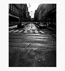 winter street. vienna, austria Photographic Print