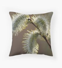 Willow Catkins Throw Pillow