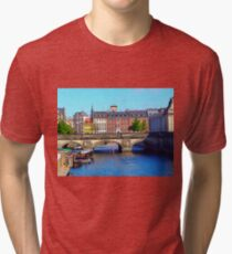 """Beautiful Copenhagen"", Photo / Digital Painting Tri-blend T-Shirt"