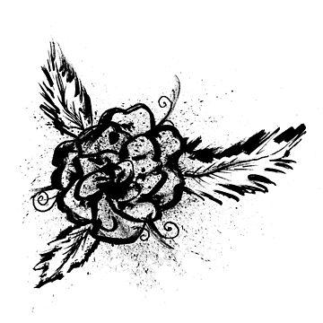 Ink Splattered Rose by Sladeside