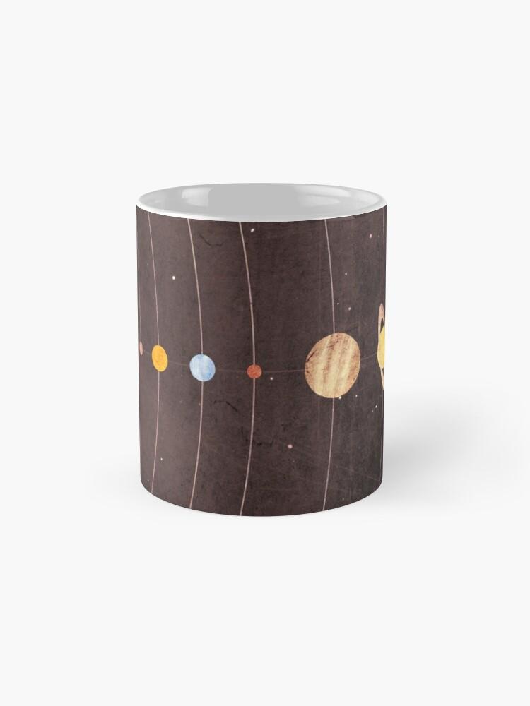 Alternate view of Solar System Mug