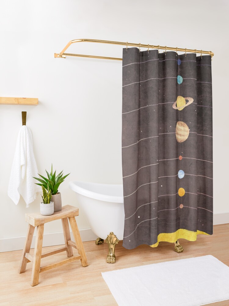 Alternate view of Solar System Shower Curtain