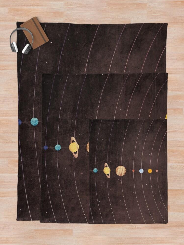Alternate view of Solar System Throw Blanket