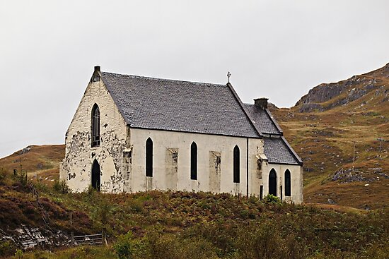 Church of Our Lady of the Braes (A830 road, Inverness-shire, Lochailort, Scotland.) by Yannik Hay