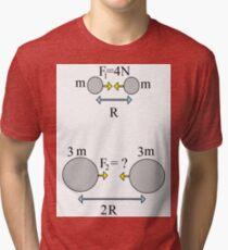 #Solve #Physics #Problem Defined by #Visual Scheme Tri-blend T-Shirt