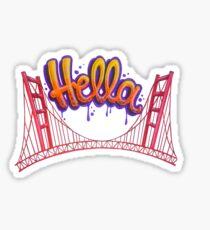 Hella - SF Sticker