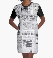 Newsprint 1 Graphic T-Shirt Dress