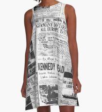 Newsprint 1 A-Line Dress