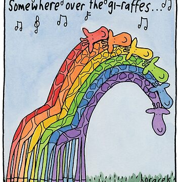 Somewhere over the giraffes by judyhoracek