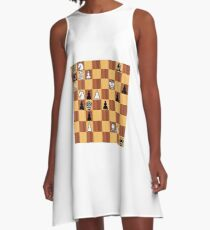 #chessproblem #chess #problem #playchess #chesspiece #chessset #chessmaster #chinesechess #chesstournament #gameofchess #chessboard #competition #sport #intelligence #wood #vector #knight #cavalry A-Line Dress