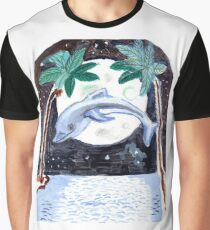 Dolphin by Moonlight Graphic T-Shirt