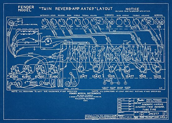 Fender Twin Reverb Amplifier Schematics Blueprint