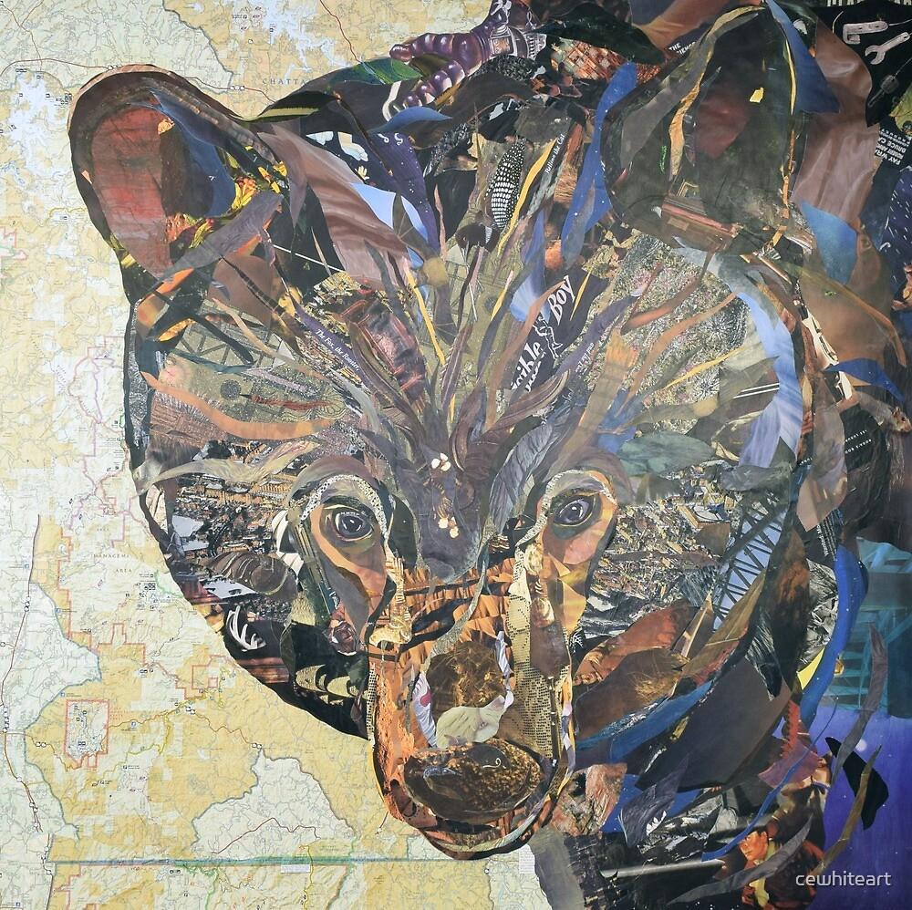 Black Bear Collage by C.E. White by cewhiteart