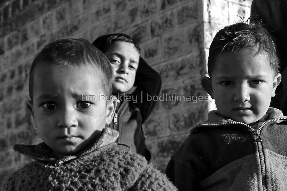 mountain kids. northern india by tim buckley | bodhiimages