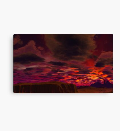 Last Sunrise at Worlds End Canvas Print