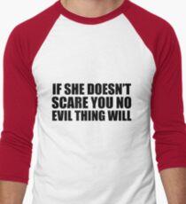 """No Evil Thing Will"" Men's Baseball ¾ T-Shirt"