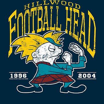 Football Head by HartmanArts