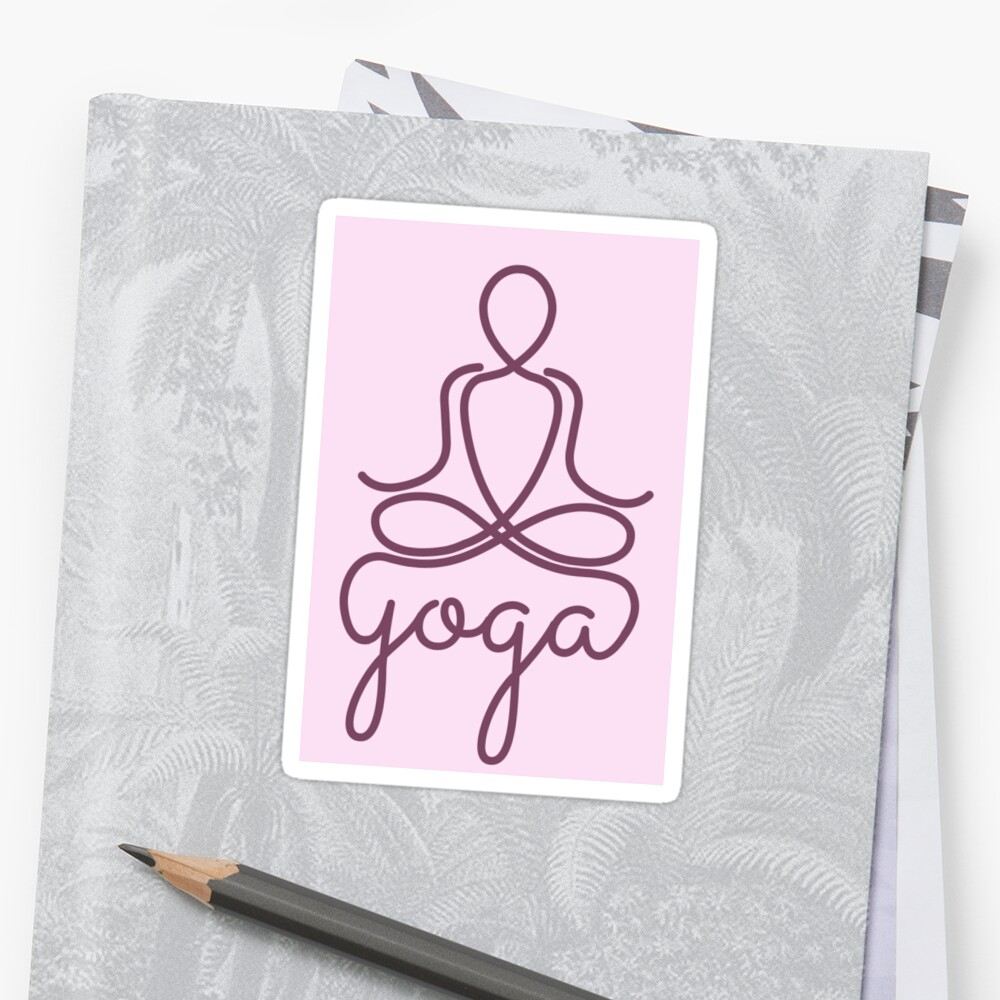 Namaste Yoga Symbol Peace in Mind by thewishdesigns