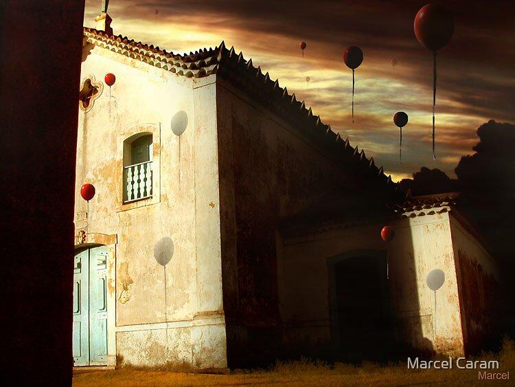 Os Balões e a Igreja by Marcel Caram