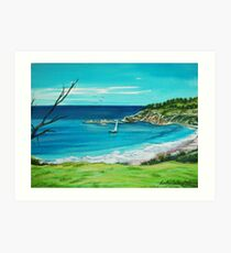 Beach View. Seals Rocks, Australia Art Print
