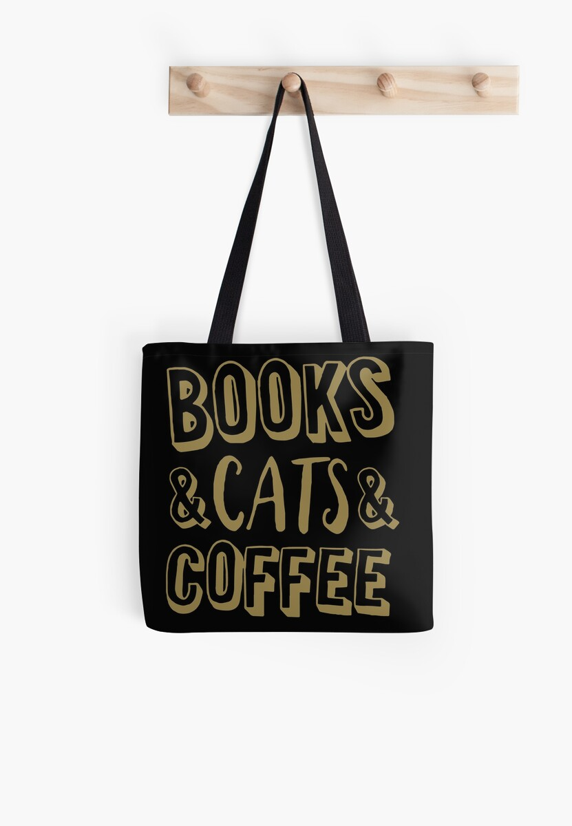 Books And Cats And Coffee Gold Women s Book Cat Lover Coffee T-Shirts f86f6c97ea