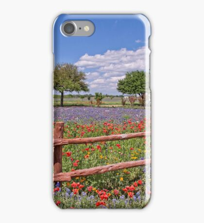 Spring in the Texas Hill Country iPhone Case/Skin
