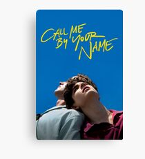 Call me by your name poster Canvas Print
