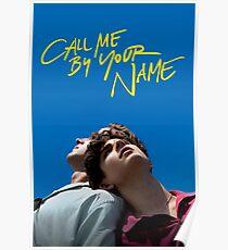 Ruf mich mit deinem Namensschild an Poster