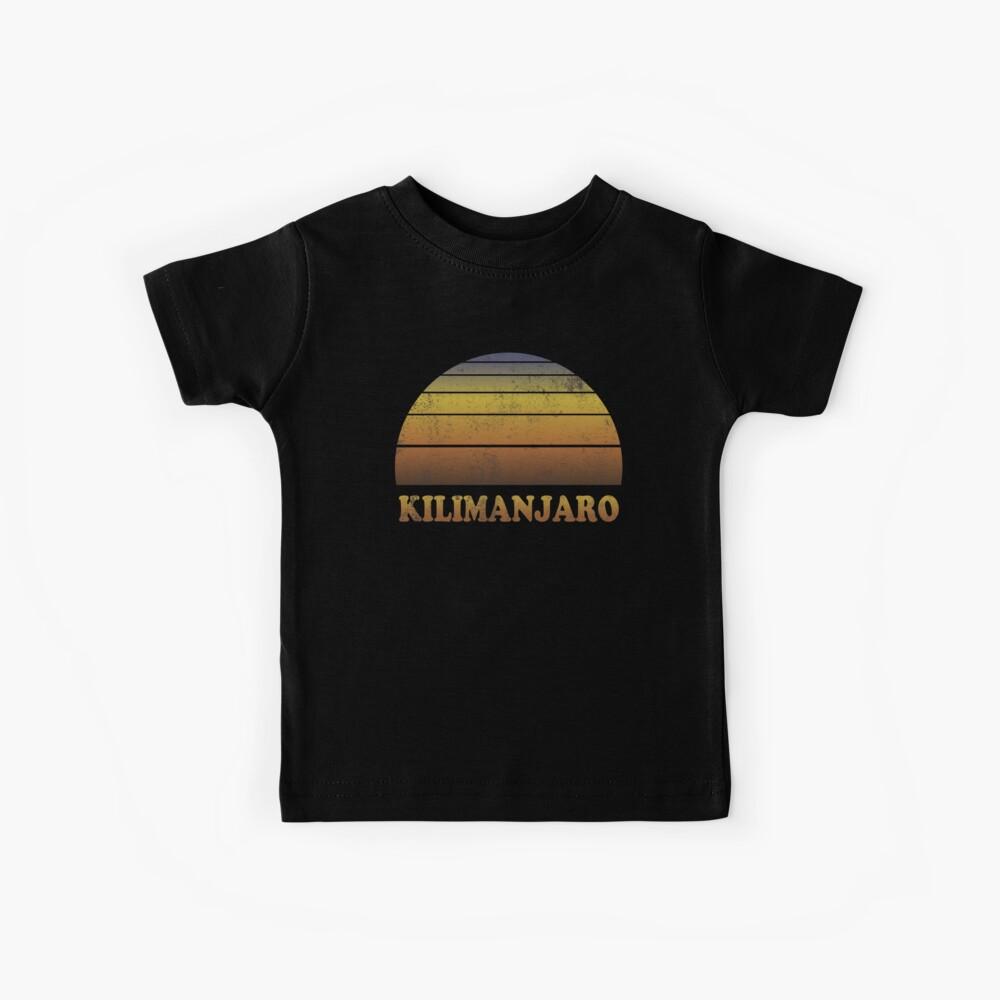 Vintage Kilimanjaro Sonnenuntergang Shirt Kinder T-Shirt