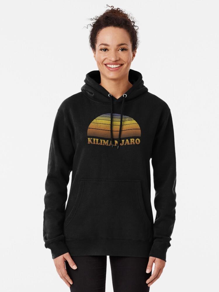 Alternative Ansicht von Vintage Kilimanjaro Sonnenuntergang Shirt Hoodie