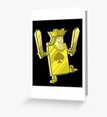 King of Spades Poker - Lucky Gambling Kings  Greeting Card