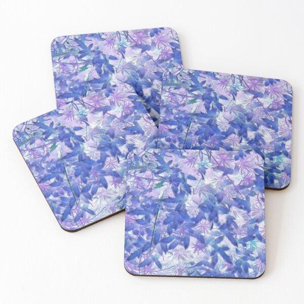Blue Moss Coasters (Set of 4)