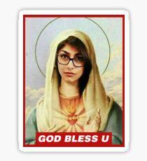 god bless mia khalifa Sticker