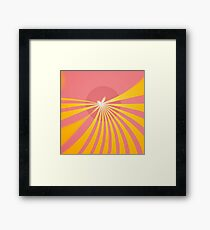 Butterfly Sun Framed Print